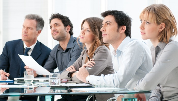 A Project Team of Five BusinessPeople